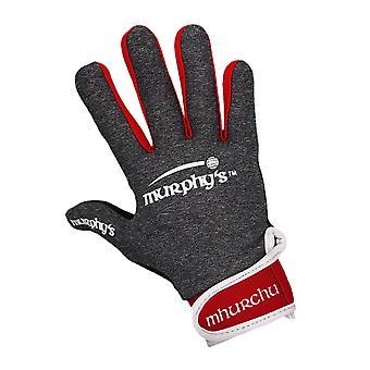 Murphyho gaelové rukavice 10 / Veľká sivá / Červená / Biela