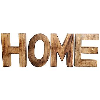 HOME Segno di lettere in legno