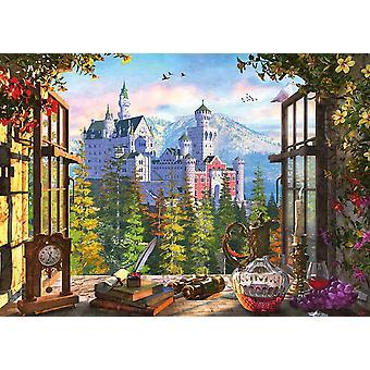 Schmidt utsikt över fairytale slott pussel (1000 stycken)