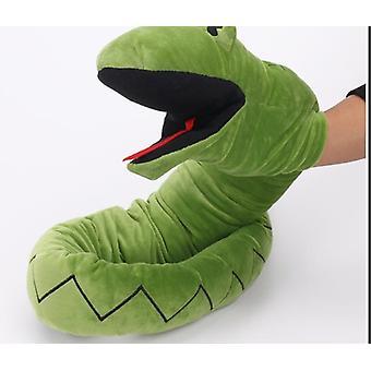 Pluche doll hand marionet dierlijke slang figuur speelgoed handschoenen voor kinderen model cadeau handpop