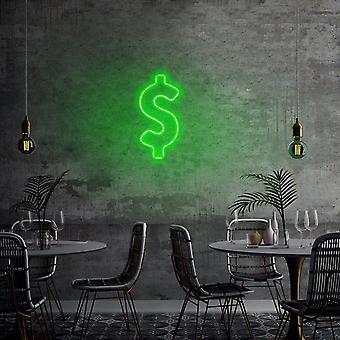 Dollartecken - Grön grön vägglampa