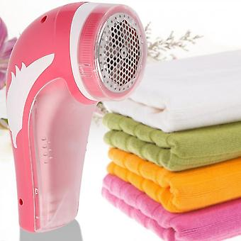 Red Rechargeable Electric Fabric Shaver Lint Fuzz Remover Household New