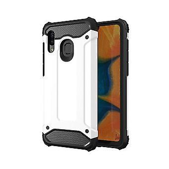 Samsung Galaxy Note 9 Rüstung Stil Hard Shell Fall - weiß