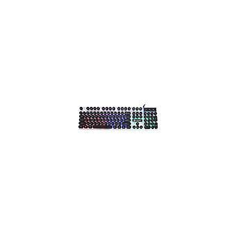 104 Key Wired PUNK Backlight Adjust RGB LED Backlit Ergonomic Gaming Keyboard for PC Laptop