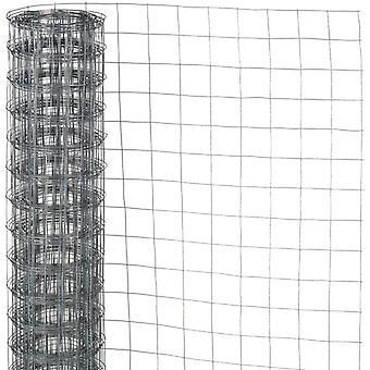 Naturnät tråd kvadrat fläta 0,5x2,5 m 13 mm galvaniserat stål