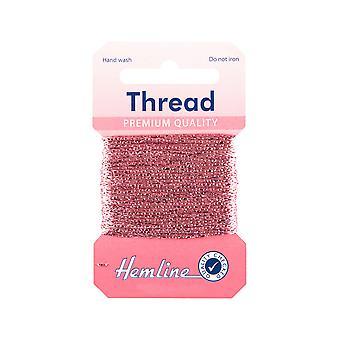 SISTE FÅ - 10m rosa glittertråd for håndverk | Garnledning og elastisk for håndverk