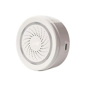 Capteur d'alarme WiFi Capteur de température Capteur de température Alarme d'humidité Fonctionne avec Amazon Google Home Assistant