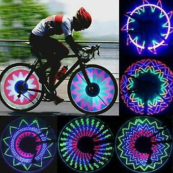 32LED الدراجات الدراجات قوس قزح عجلة إشارة الإطارات تحدث حافة الخفيفة