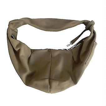 Pet Outing Carrier Bag Cotton Messenger Shoulder Bag, Colour: Khaki