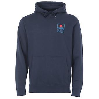 Edwin Sunset On MT Fuji Hooded Sweatshirt - Navy Blazer