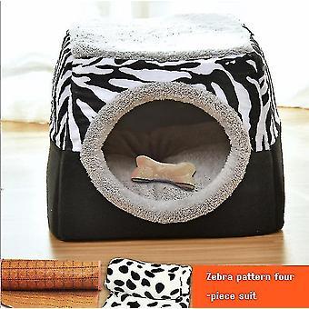 Eksplosiv kattekuld Vinter Varmt Lukket Cat House Villa Cat House Kennel Lille Hund Pet