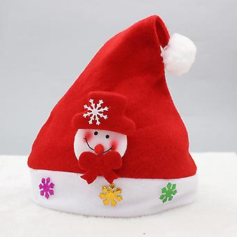 Creative Christmas Ornaments Luminous Christmas Brushed Fabric Children's Hat Christmas Gifts-cartoon Children's Non-luminescent Brushed Fabric Snowma