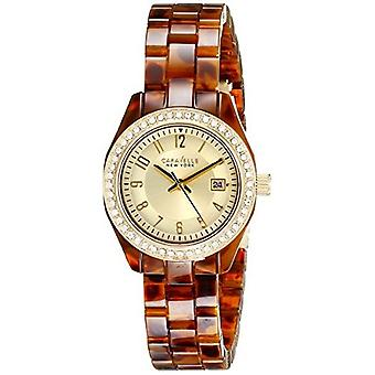 Caravelle New York Women's 44M104 Analog Display Analog Quartz Brown Watch