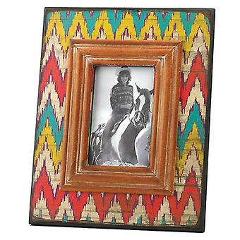Accent Plus Ikat-Style Chevron Weathered-Look Photo Frame - 4x6, Pack of 1