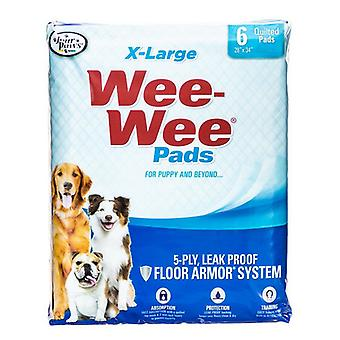 "Neljä tassua X-Large Wee Wee Pads - 6 pakkausta (28"" pitkä x 30"" leveä)"