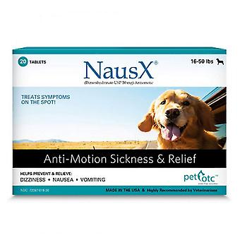 Pet OTC NausX Anti-Motion Sickness Treatment for Dogs 16-50 lbs - 20 count