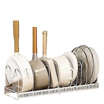 YANGFAN Adjustable Kitchen Pot Lid Rack Holder Organizer