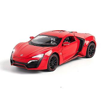 Toy cars red 1:24 die cast alloy car model supercar boy christmas gift toy free shipping collection|diecasts