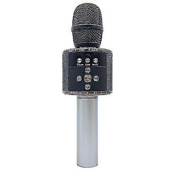 Microphones 7 colors led light usb bluetooth wireless microphone speaker handheld microphone ktv karaoke mic