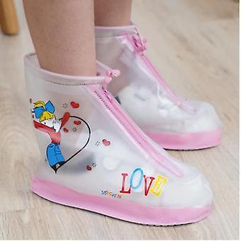 Chaussures de pluie pour enfants Pour enfants Filles Garçons Antidérapantes Épaississantes Élèves Résistants à l'usure Chaussures de pluie Couvre Chaussures de dessin animé Couverture