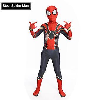 Detský mužský cos Spiderman Tesné jednodielne šaty oblek Superman Performance Suit