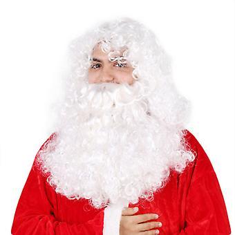Evago hamis karácsonyi férfiak szakáll profi Mikulás paróka és szakáll set jelmez kiegészítő ingyenes méret újévi party