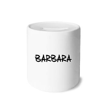 Englischer Name Barbara Print Keramik Sparschwein