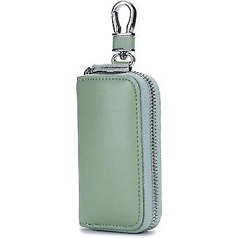 Leather Key Wallet, Car Card Holder, Zipper Wallet, Unisex