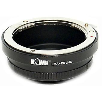Kiwifotos Lens Mount Adapter: Allows Pentax K Mount Bayonet Lenses to be used on Samsung NX5, NX10, NX11, NX100, NX200