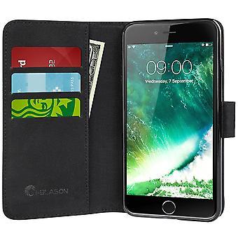 i-Blason-iPhone 7 mais o caso, carteira caso crédito cartão ID-Dal/roxo