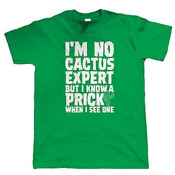 Kaktus-Experte, Herren lustige Offensive T Shirt, Geburtstagsgeschenk für ihn Papa Sohn