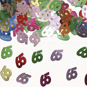 Tabela numer 65 konfetti ozdoba konfetti urodzinowe