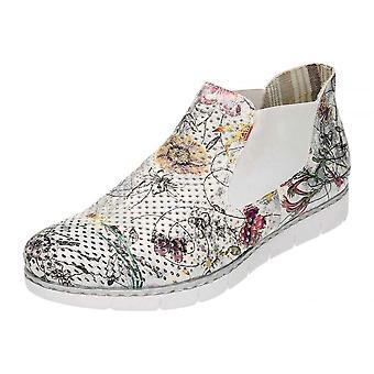 Rieker Multi - colorida Pull plana no tornozelo Casual calçados Funky M1397-90