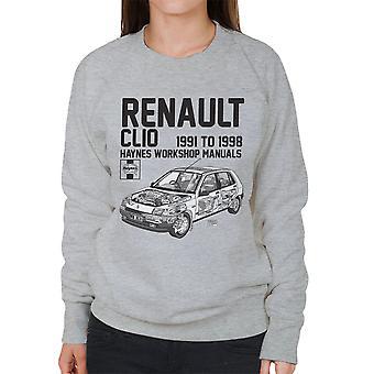 Haynes Besitzer Werkstatt Handbuch Renault Clio schwarz Damen Sweatshirt