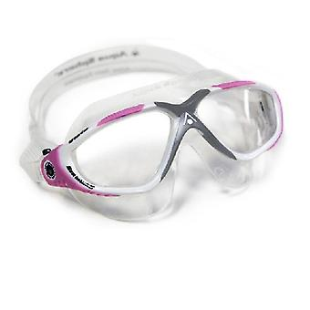 Aqua Sphere Vista Ladies Swim Goggle White/Pink- Clear Lens