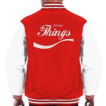 Stranger Things Coca Cola Men's Varsity Jacket