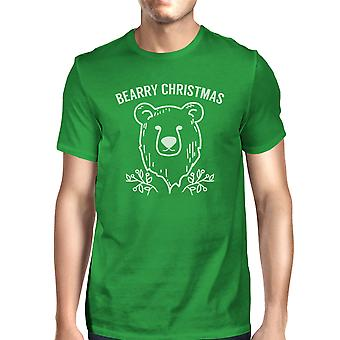 Bearry Christmas Bear Mens Funny Graphic T-Shirt For Holiday Gifts