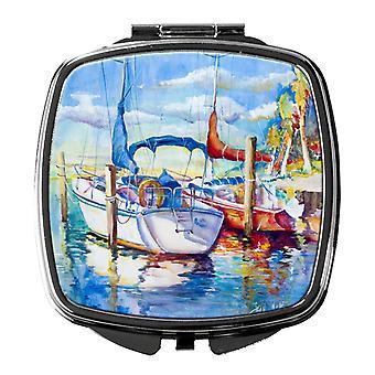 Carolines Treasures  JMK1230SCM Towering Q Sailboats Compact Mirror