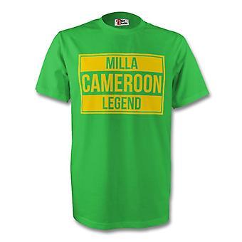 Roger Milla Kameroen legende Tee (groen) - Kids
