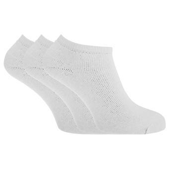 Womens/Ladies Plain Black & White Trainer Socks (Pack Of 3)