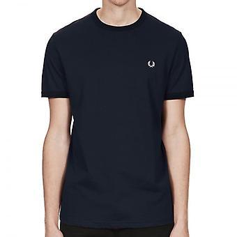 Fred Perry M3519 Ringer Camiseta Navy