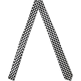 Slim Satin Krawatte - SCHACK schwarz / silver
