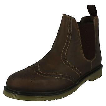 Mens Oak Trak Chelsea Boots Belper M120404/10 - Brown Leather - UK Size 12 - EU Size 46 - US Size 13