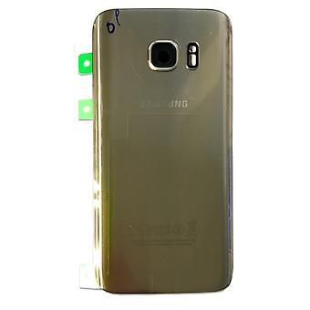 Дверь крышку Samsung Галактика S7 края G935 G935F + коврик клей золото