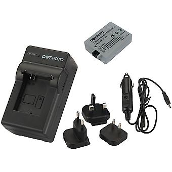 Dot.Foto Canon LP-E5 - 7.4v / 1050mAh Battery and Battery Travel Charger