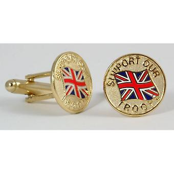 Union Jack Wear Support Our Troops Cufflinks