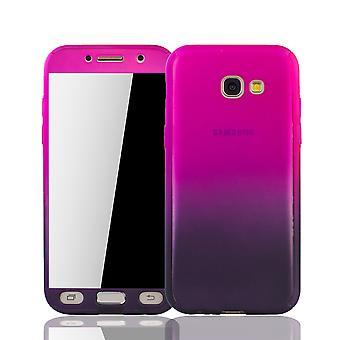 Samsung Galaxy A3 2017 Capa protetora caso de telefone capa de tanque proteção vidro rosa