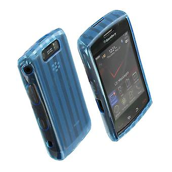 OEM Verizon High Gloss Silicone Case for BlackBerry Storm 2 (Blue) (Bulk Packaging)
