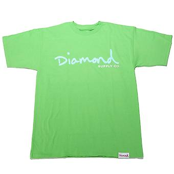 Diamond Supply Co Og Script T-shirt Lime Green