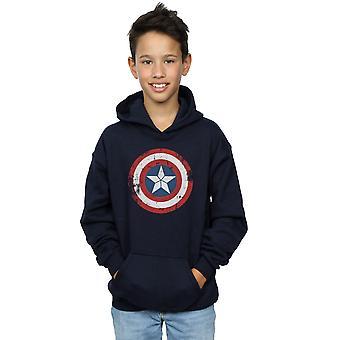 Marvel gutter Captain America borgerkrigen Distressed skjold Hettegenser